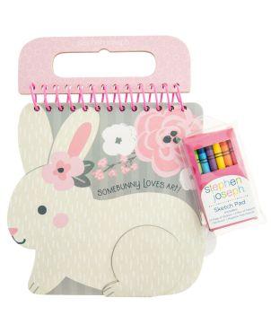 Μπλοκ Ζωγραφικής με Αυτοκόλλητα, Bunny