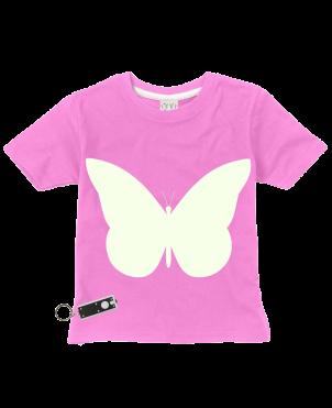 T-Shirt Glow in the Dark, Butterfly