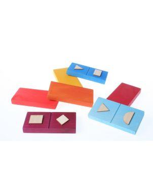 Γεωμετρικό Domino Spiel & Holz