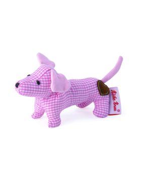 Μαλακό παιχνίδι κουδουνίστρα σκύλος ροζ