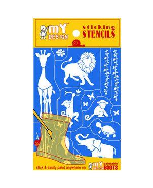 Ζώα Stencil pack, I love my design
