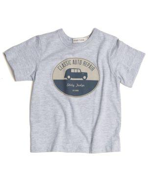 T-Shirt, Κοντό Μανίκι, Γκρί, Adam