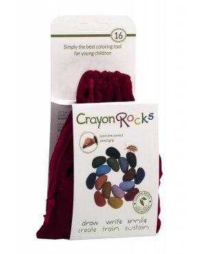 Crayon Rocks, 16 χρώματα σε κόκκινο βελούδινο πουγκί