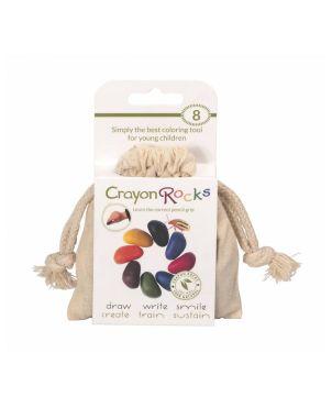 Crayon Rocks, 8 χρώματα σε λευκό βαμβακερό πουγκί