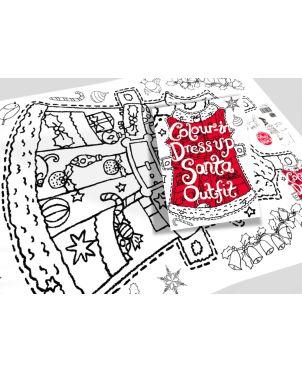 Color-in Χάρτινη Στολή, Santa Claus