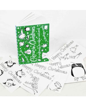 Color-in PostCards, Christmas