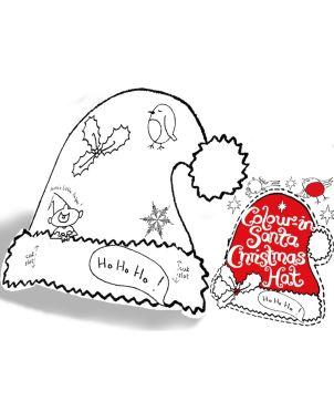 Color-in Χάρτινo Καπέλο, Santa Claus