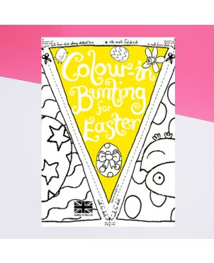 Color-in Bunting For Easter