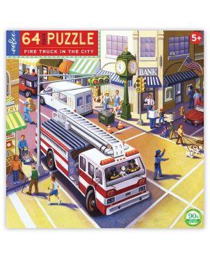 Παιδικό Puzzle 64 κομ, Fire Truck in The City