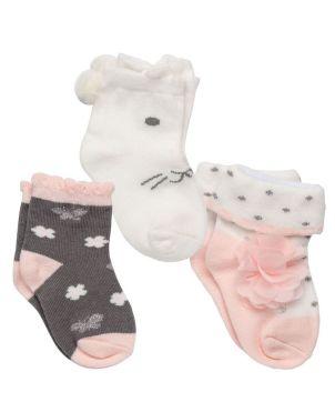Σετ Βρεφικές Κάλτσες 3 τμχ, Bunny