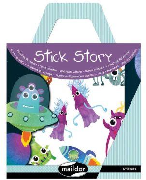 Αυτοκόλλητα, Stick Story, Space Monsters