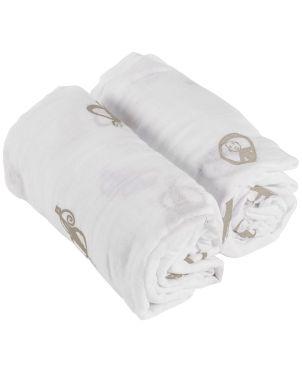 Οργανικές Swaddle Κουβέρτες 2 τμχ, Grey