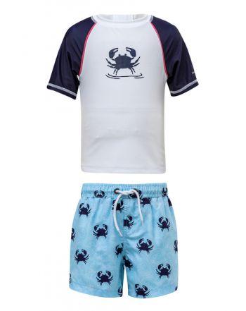 Μπλούζα & μαγιό με προστασία UV, Blue Crab