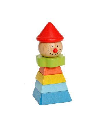 Ξύλινο Παιχνίδι Στοίβαξης, Stacking Clown