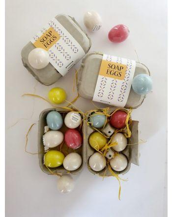 Πασχαλινά Αυγά- Φυσικό Σαπούνι 6 τμχ