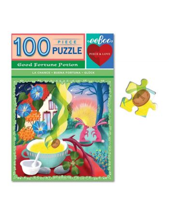 Puzzle 100 κομ, Piece & Love, Good Fortune