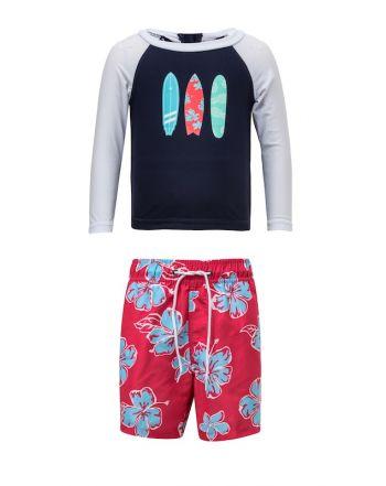 Μπλούζα & μαγιό με προστασία UV, Hibiscus Surf