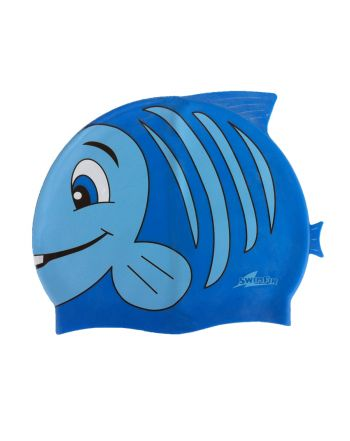 Σκουφάκι Κολυμβητηρίου - Θαλάσσης,Μπλε, SwimFin