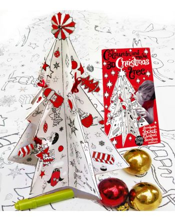 Color-in Κατασκευή 3D Christmas Tree