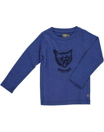 Μπλουζάκι με μακρύ μανίκι Cat μπλέ