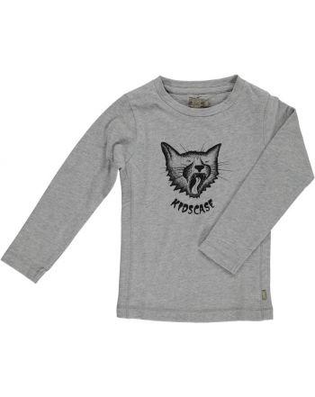Μπλουζάκι με μακρύ μανίκι Cat γκρί