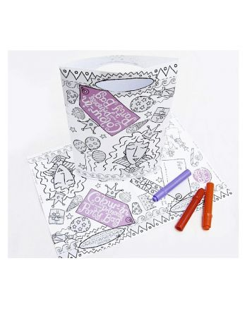 Color-in Party Bag, Princess