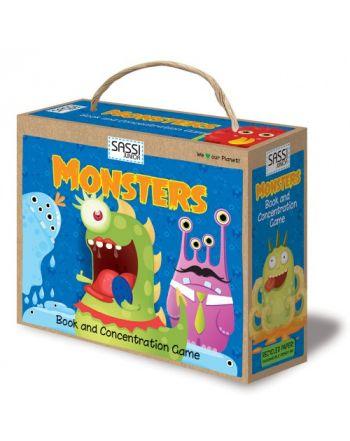Παιχνίδι Memory &  Βιβλίο, Monsters