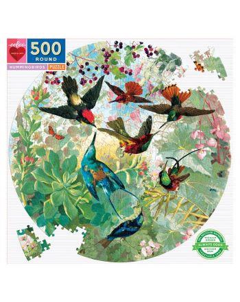 Round Puzzle 500 κομ, Hummingbirds