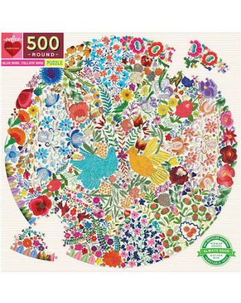 ROUND PUZZLE 500pcs ,BLUE BIRD YELLOW BIRD