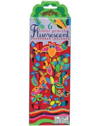 Ξυλομπογιές, Fluorescent 6 χρώματα, Owl