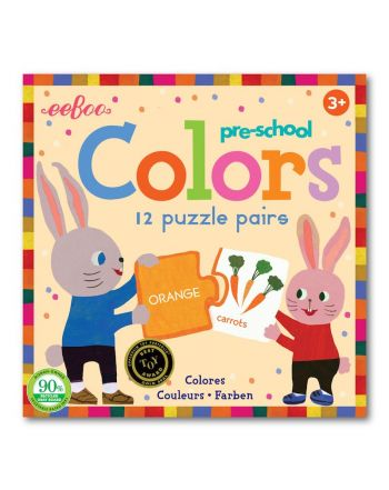 Παιδικό Puzzle, 12 pairs, Colors