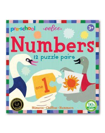 Παιδικό Puzzle, 12 pairs, Numbers