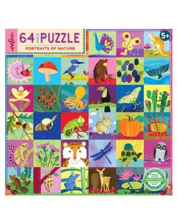 Παιδικό Puzzle 64 κομ, Portraits of Nature