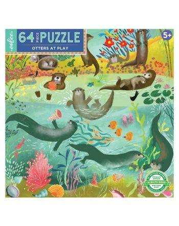 Παιδικό Puzzle 64 κομ, Otters at Play