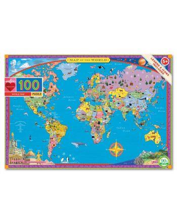 Παιδικό Puzzle 100 κομ, World Map