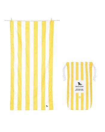 Πετσέτα θαλάσσης Quickdry, Boracay Yellow XL