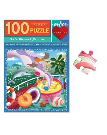 Puzzle 100 κομ, Piece & Love, Safe Travels
