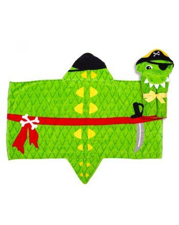Παιδική πετσέτα με κουκούλα, Alligator Pirate