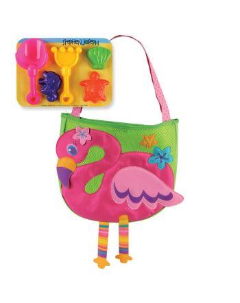 Τσαντα Θαλάσσης με παιχνίδια, Flamingo