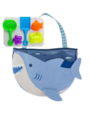Τσάντα θαλάσσης με παιχνίδια,  Light Blue Shark