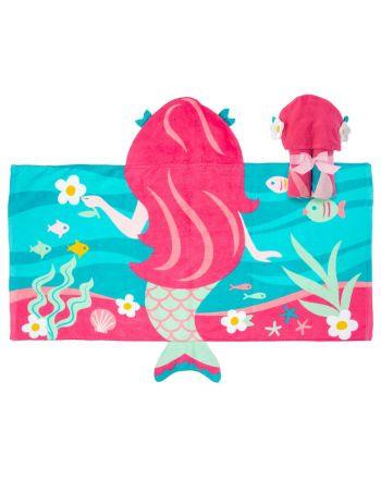 Παιδική πετσέτα με κουκούλα, Mermaid