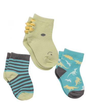 Σετ Βρεφικές Κάλτσες 3 τμχ, Dino