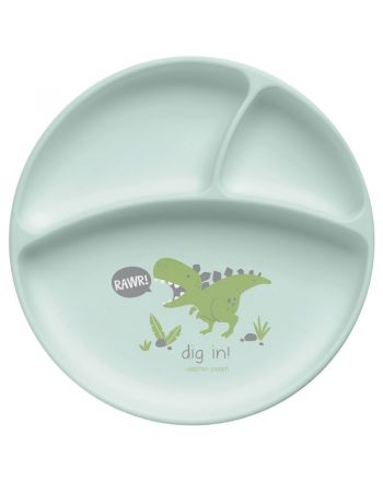 Παιδικό Πιάτο Σιλικόνης, Dino