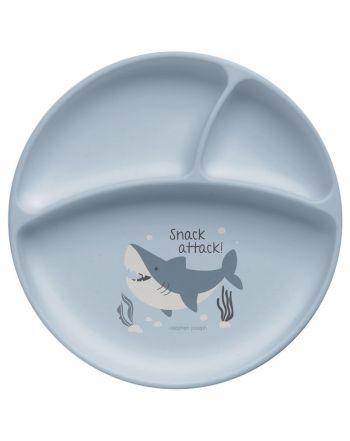 Παιδικό Πιάτο Σιλικόνης, Shark