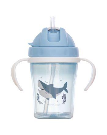 Εκπαιδευτικό ποτηράκι με καλαμάκι, Shark