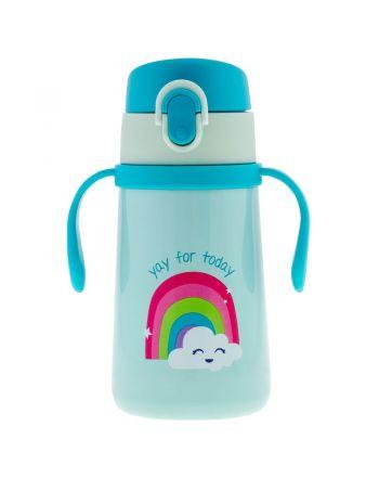 Παιδικό Ανοξείδωτο Παγούρι  Θερμός με Κράτημα, Rainbow