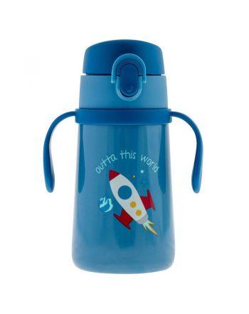 Παιδικό Ανοξείδωτο Παγούρι  Θερμός με Κράτημα, Space