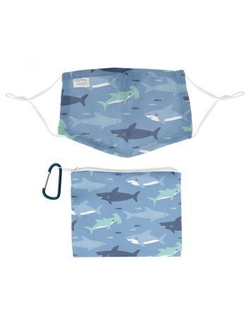 Παιδική Μάσκα Προστασία Προσώπου με Τσαντάκι, Shark