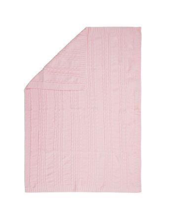 Βρεφική Κουβέρτα, Chenille Pink