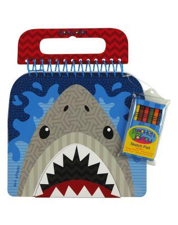 Μπλοκ Ζωγραφικής με Αυτοκόλλητα, Shark